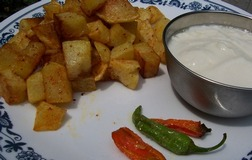 potatoes fried in mustard oil