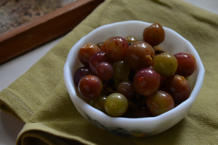 oooh pickled grapes!