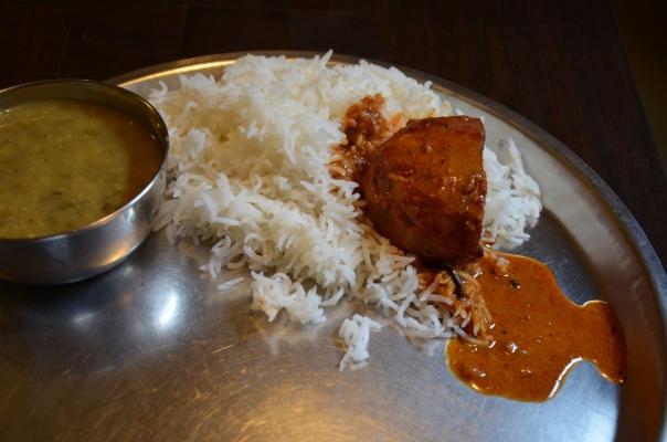 dum olu with rice