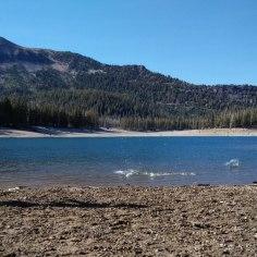 Skipping stones at Horseshoe Lake