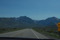 Entering Mammoth Lakes