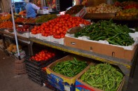 Fresh produce at Al Bukharia market